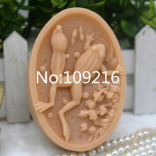 New Product!!1pcs Frog(zx319) Food Grade Silicone Handmade Soap Mold Crafts DIY Mould