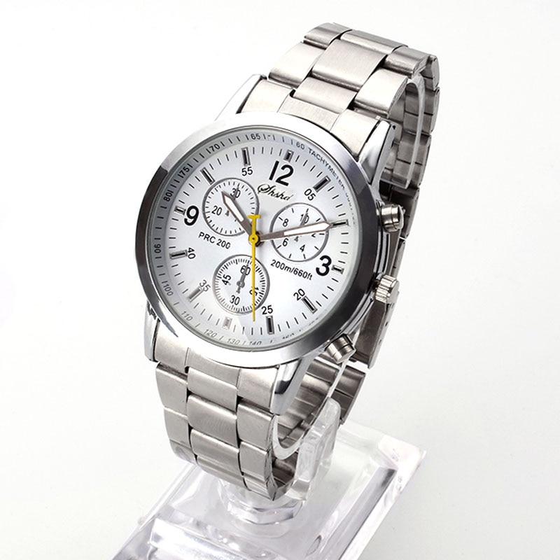 top marca de moda de lujo masculino relojes de marcas famosas de cuero de ginebra