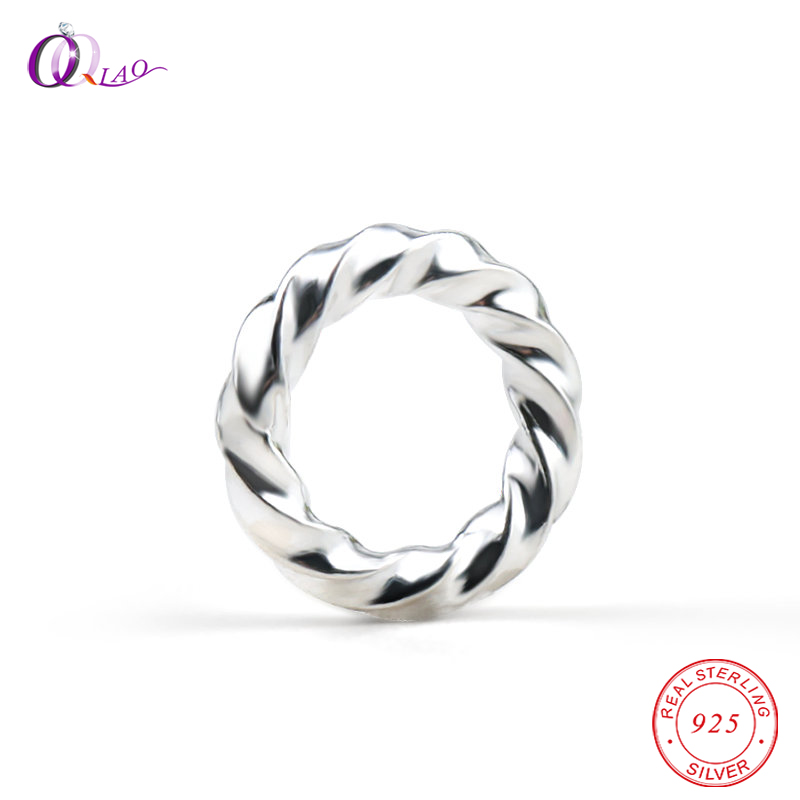 5PCS 5mm 6mm 8mm 925 Sterling Silver Spiral Rings Spacer Beads 925 Silver Twisted Jump Rings Handmade Jewelry Findings For DIY