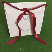 Wholesale 10Pcs 2018 Valentine S Day Style White Heart Paper Gift Bag Original Pan Jewelry Box