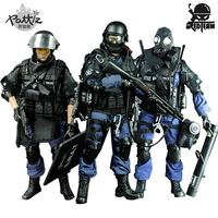 PATTIZ 1/6 Scale Military Solider Figure Toys Set Collectable US Swat Team Model DIY Clothes Doll Action Figure Gun Toy for Boys