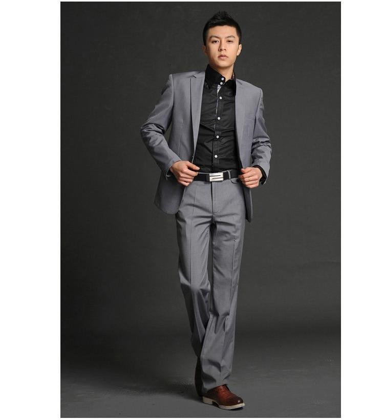 Online Shop Korean Slim suit costumes male fashion casual dress ...