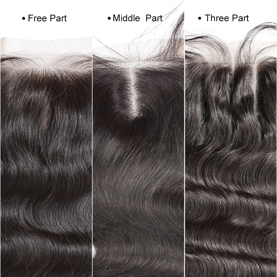 ILARIA HAIR Brazilian Kinky Straight Lace Closure With Baby Hair 4x4 100% Human Hair Top Closure Middle Part Free Part 3 Part-in Closures from Hair Extensions & Wigs    2