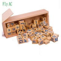 Montessori Educational Wooden Toy For Children Sensory Professional Teaching Aids English Alphabet Cognition Baby Toy 62pcs