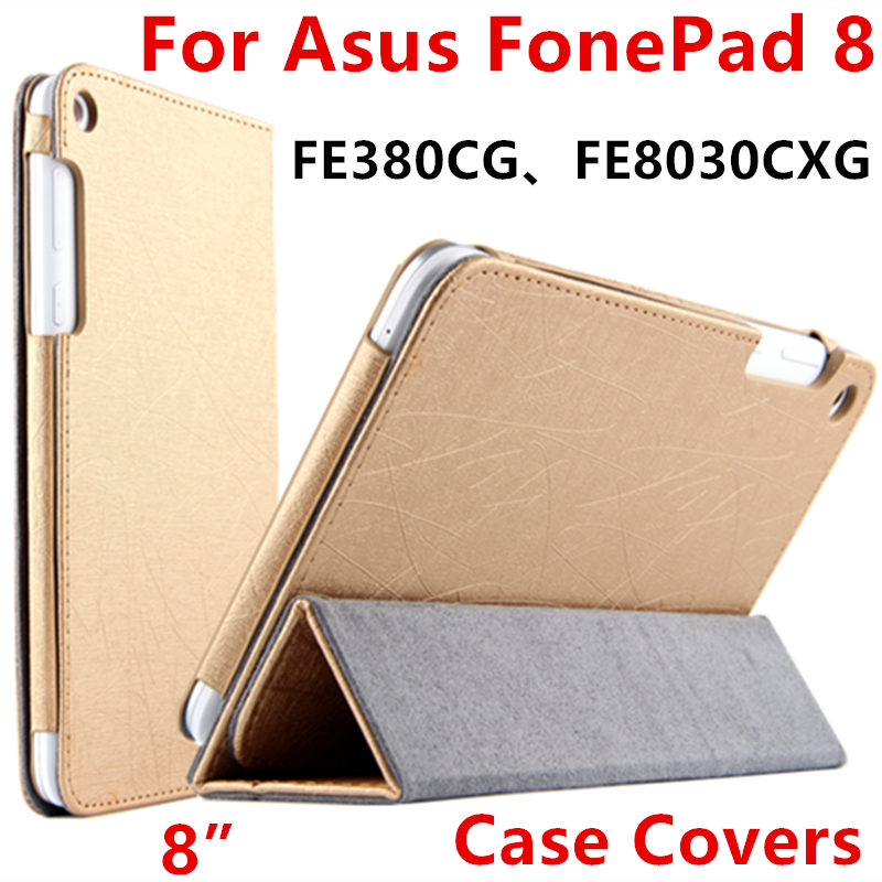 Case For Asus Fonepad 8 FE8030CXG Protective Smart cover Protector Leather Tablet For asus FE380CG K016 8 inch PU Sleeve Case