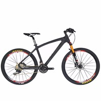 BEIOU Carbon 26 Inch Mountain Bike 30 Speed S H I M A N O M610 DEORE MTB T800 Fiber Ultralight 10.7kg Matte 3K Carbon Hubs CB024