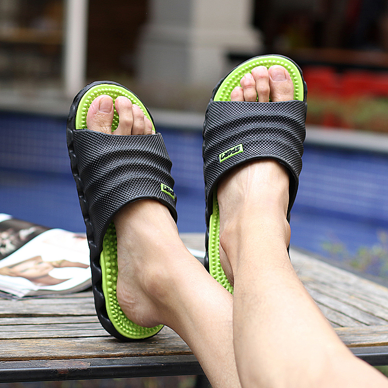 dcd9ab779 POLALI 2018 New Summer Cool Water Flip Flops Men High quality Soft Massage  Beach Slippers,Fashion Man Casual Shoes Details & Specification :