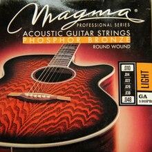 MAGMA  Acoustic guitar strings PHOSPHOR BRONZE – Round Wound   GA120PB( .010-048) Light