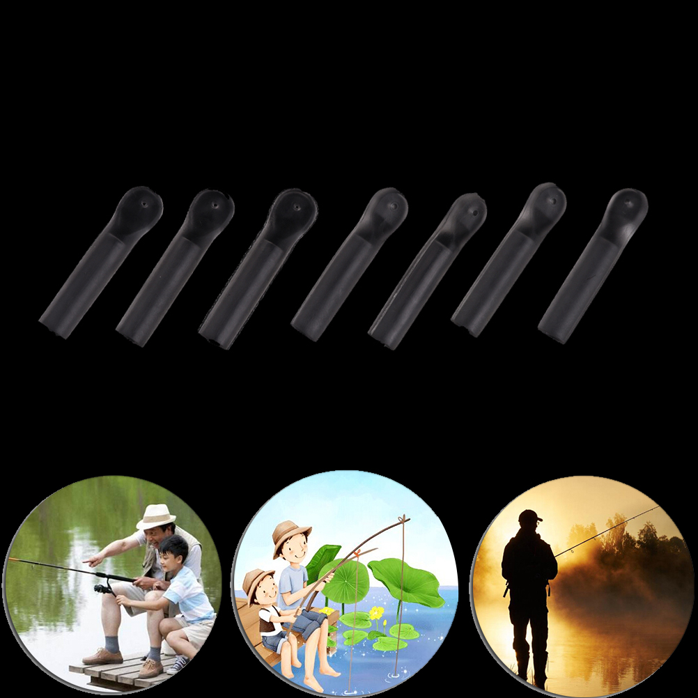 20/40/50/60/80x Carp fishing lures silicone tube clear waggler float adaptors carp match floats terminal tackle