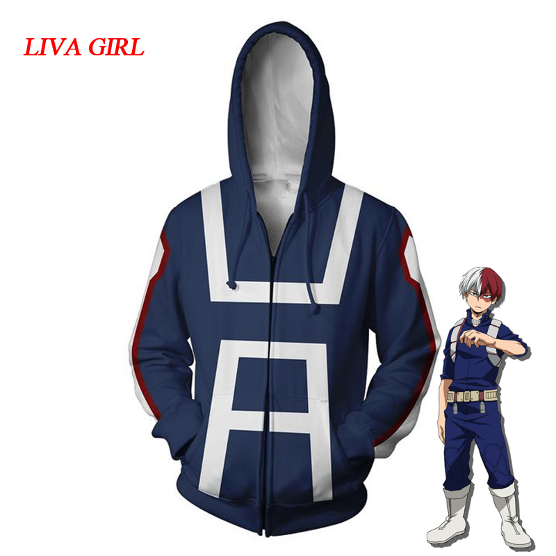 Anime Boku No My Hero Academia Cosplay Costumes Hoodies Men Women Sweatshirts Bakugou Izuku Midoriya Spring Jacket Coat