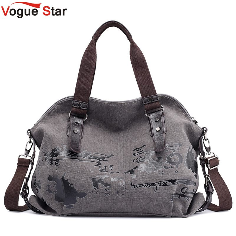 Women's Shoulder Bags Vintage Graffiti Canvas Handbags Famous Designer Female Shoulder Bags Ladies Totes Fashion Large Bag L55