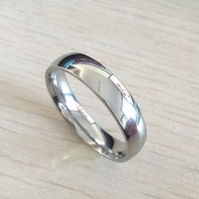 6mm Titanium Band Brushed Wedding Ring Solid fashion ring glossy 316L stainless steel ring for women men Valentine's Day