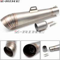 Universal Motorcycle Exhaust pipe Muffler Escape Muffle For Honda CB 599 919 400 CB600 HORNET CBR 600 F2 F3 F4 F4i 900RR VTX