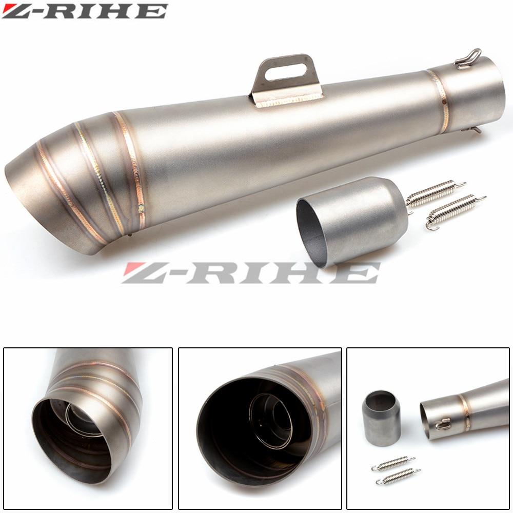 Universal tubo de escape Da Motocicleta Silenciador do Escape Muffle Para Honda CB 599 919 400 900RR CBR 600 F2 F3 F4 F4i CB600 HORNET VTX