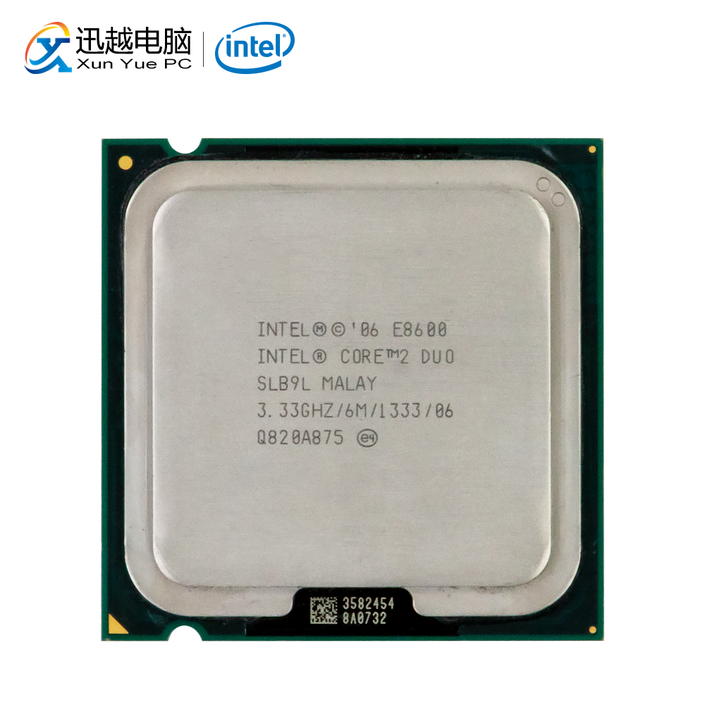 Intel Core 2 Duo E8600 Desktop Processor Dual-Core 3.33GHz 6MB Cache FSB 1333 LGA 775 8600 Used CPU