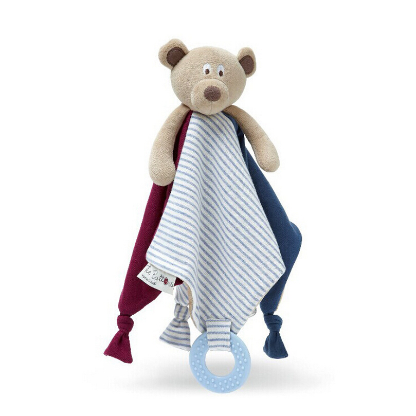 Infant Bear Reassure Towel Newborn Teether Blankie Newborn Gift Appease Towel Baby Educational Plush Toy цена