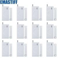 Sıcak Satış Yeni Beyaz 433 Mhz Irtibata Sensörler ve Alarmlar Kablosuz Kapı Pencere Mıknatıs Giriş Dedektörü Sensörü