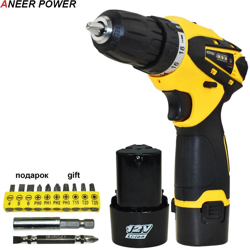 12v Multifuctional Cordless Screwdriver Power Tools Drill Mini Batteries Screwdriver 1 5Ah Battery Capacity Screwdriver