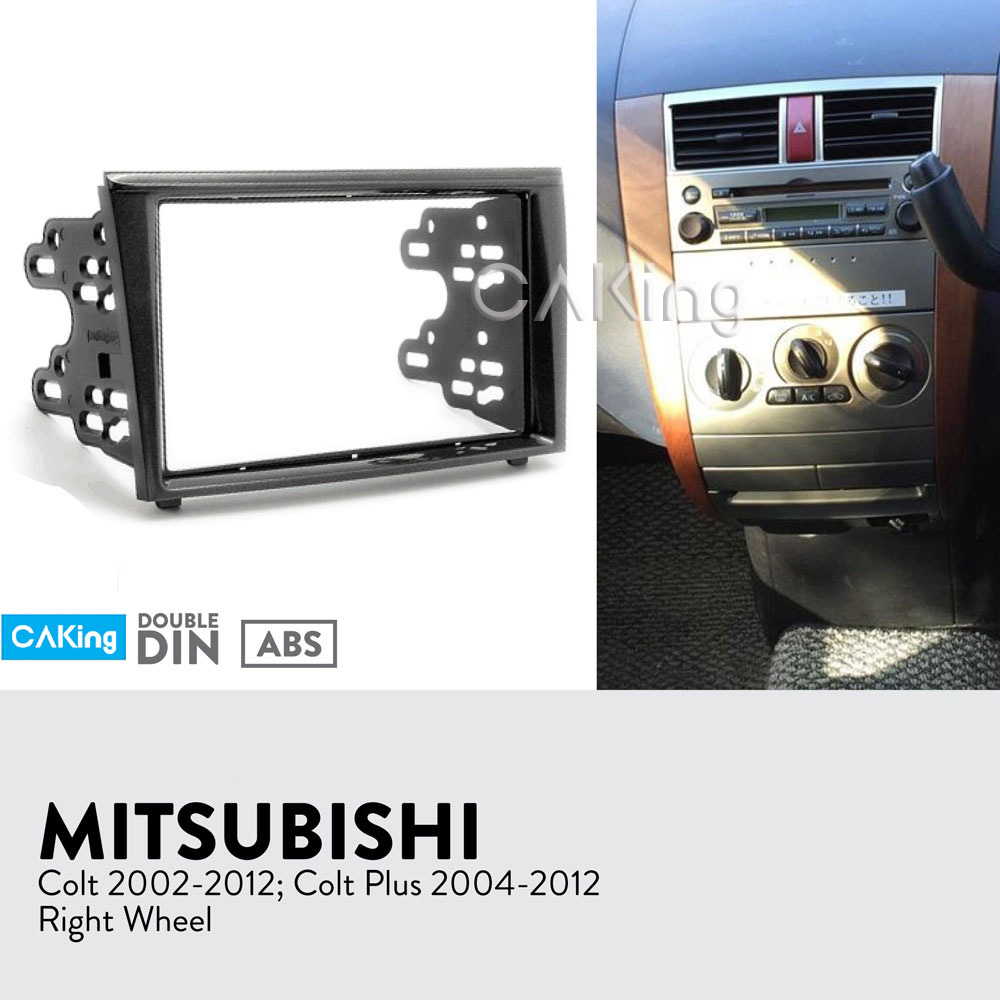 Car Fascia Radio Panel for MITSUBISHI Colt 2002 2012; Colt Plus 2004 2012 Dash Kit Facia Plate Adapter Console Bezel Cover Trim-in Fascias from Automobiles & Motorcycles