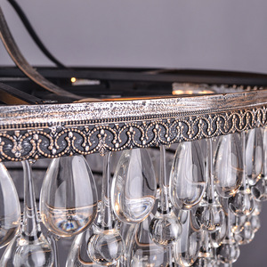 Image 2 - خمر قطرات زجاج كبير Led كريستال صلب Lustres الثريات المعلقات الحديثة E14 مصباح معلق للمطبخ غرفة المعيشة غرفة نوم