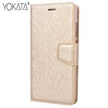 Yokata роскошный золотой бизнес PU Флип кожаный чехол для Huawei P10 lite чехол Магнитный кошелек силиконовый чехол-подставка кармашки для карт Fundas