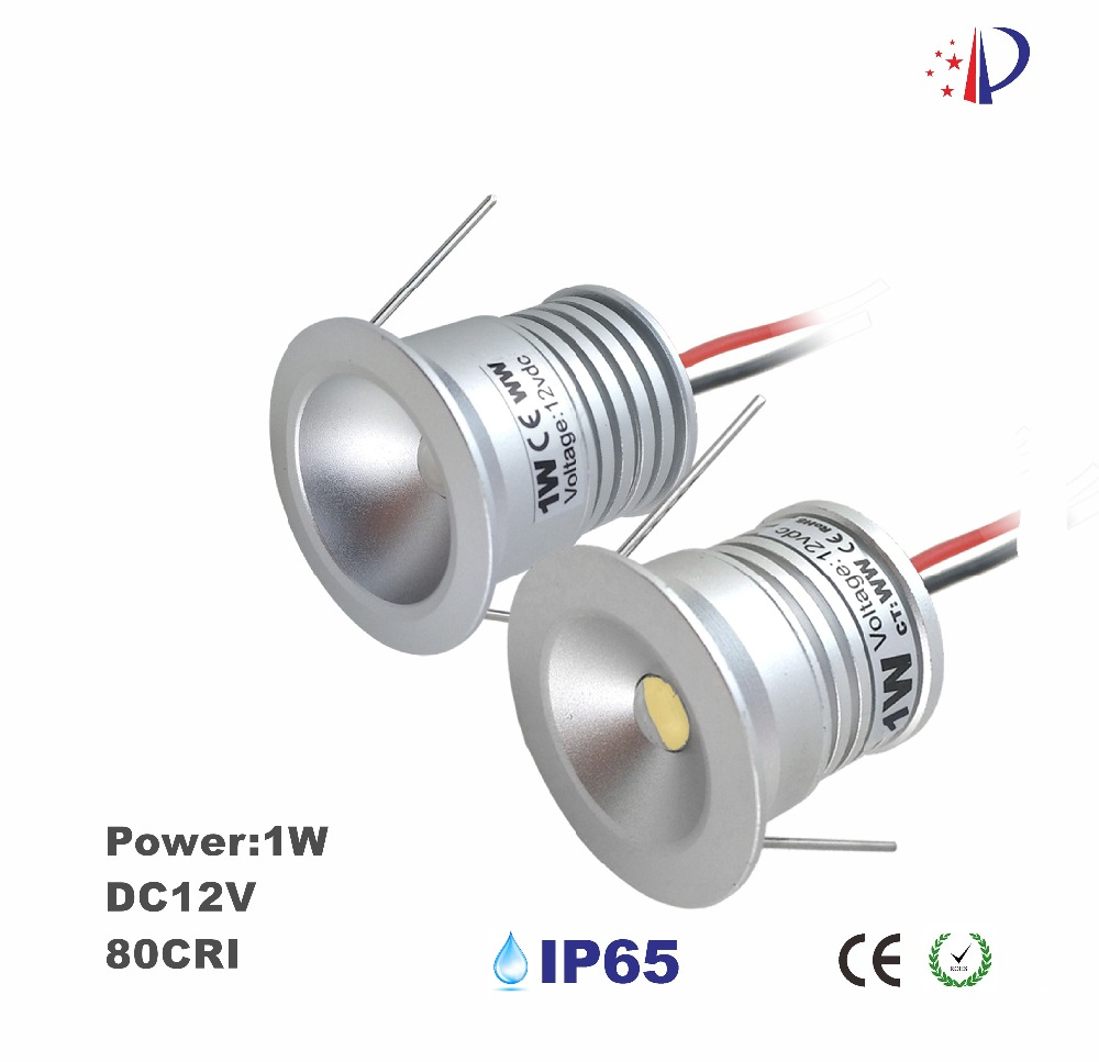 1W Mini Led Spot Dekorljus, 25mm Cutout Inbyggd Downlight, DC12V Input Small Spotlight, 18pc CE Lista DIY Hem Lampa