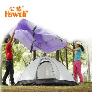 Image 3 - Hewolf Outdoor Four Seasons 2 person winterized winter tent Double layer Beach Tourist camping tent snow skirt