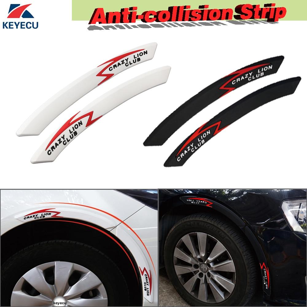 "1 Pair Car Arch Wheel Eyebrow Protector Lip Anti-Scratch Sticker 17/"""