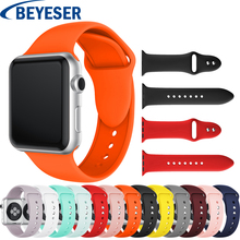 Colorful Soft Silicone Sport Band for Apple Watch 38MM 42MM 40mm 44mm Rubber Watchband Strap for iWatch Series 4 3 2 1 Wristband цена и фото
