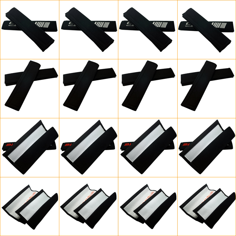 100pairs/lot Car Embroidered Seat Belt Padding Shoulder Cushion Cover Mixed-Order