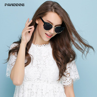 PANDDOG 2018 Female Cat EyeSunglasses Circular Alloy Retro Individual Frame Street UV400 Polarized With Box And