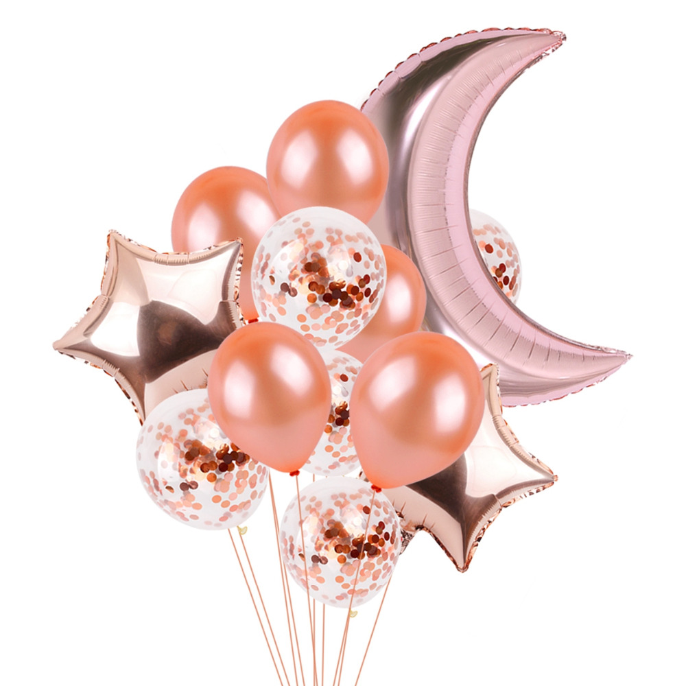 FENGRISE Rose Gold Party Baloon 18th 21st 30th Birthday Balloon 18