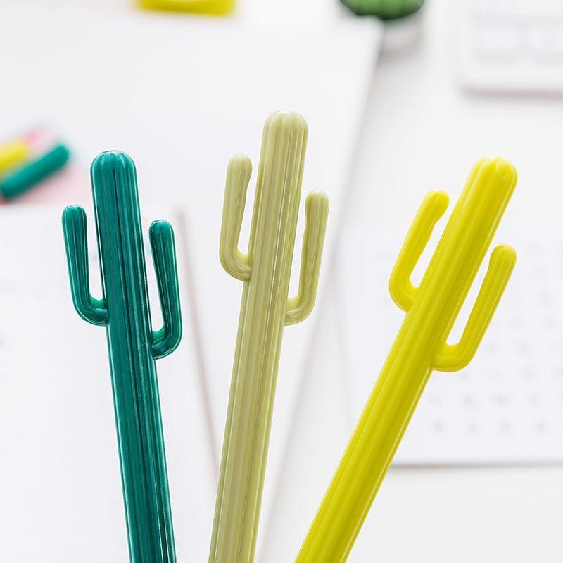 все цены на 48pcs/lot Wholesale Cactus Gel Pen Cute Cactus Design Gel Pen Office & School Pens Students Fashion Gift Zakka Style