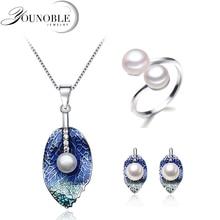 купить Beautiful Real Natural Pearl Jewelry Set Women,Wedding Freshwater Pearl Necklace Earring Set Anniversary Gift по цене 850.03 рублей