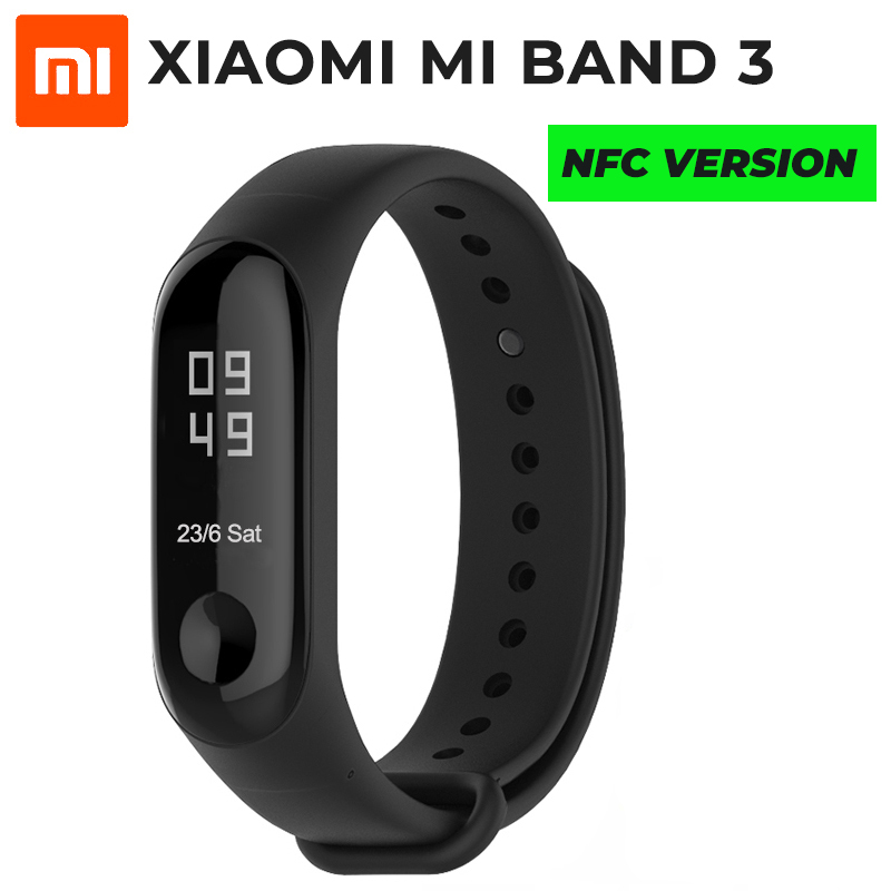 In Stock Original Xiaomi Mi band 3 NFC Smart Wristband OLED 50M Waterproof Heart Rate Monitor