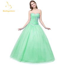 In Stock New Cheap Tulle Quinceanera Dresses Ball Gown Crystals Beaded Sweet 16 Dresses Size 2-4-6-8-10-12-14-16 QA975