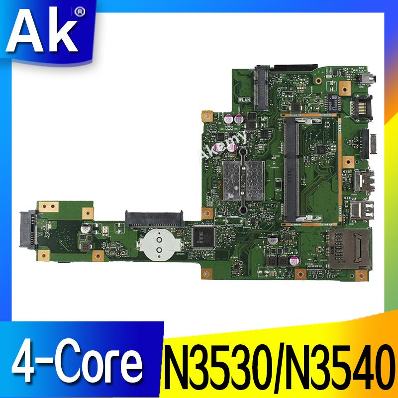 AK X553MA Laptop Motherboard For ASUS X553MA X553M A553MA D553M F553MA K553M Test Original Mainboard N3530/N3540 4-Core CPU