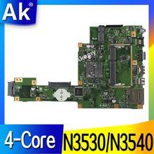 AK X553MA материнская плата для ноутбука ASUS X553MA X553M A553MA D553M F553MA K553M Тесты Оригинал материнская плата N3530/N3540 4-Core Процессор