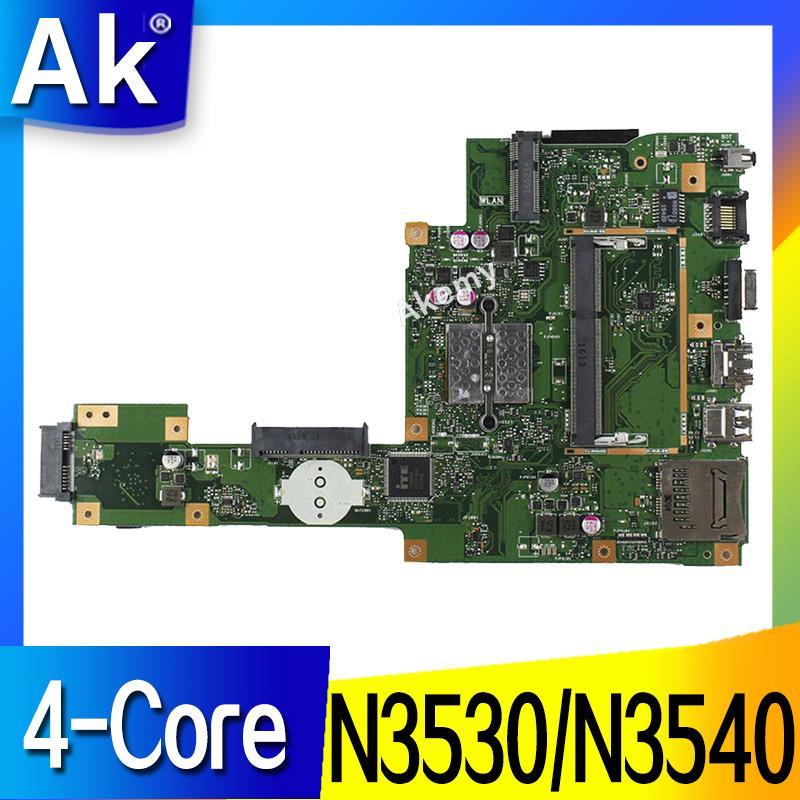 AK X553MA placa base de Computadora Portátil para ASUS X553MA X553M A553MA D553M F553MA K553M prueba placa base original de N3530/N3540 4  core CPU-in Placas base from Ordenadores y oficina on AliExpress - 11.11_Double 11_Singles' Day 1