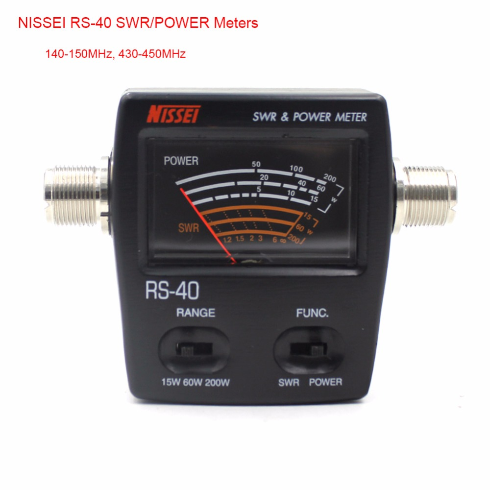 Radio Accessories NISSEI RS-40 Measurable Range 200W with Adapter Connector RS40 Power SWR Meter 140-150Mhz 430-<font><b>450Mhz</b></font> image
