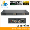 DHL Free Shipping 1U Chassis 4 Channels HD 3G SDI To IP Encoder IPTV H 265