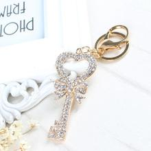 Keychain Heart Butterfly Lovely Fashion Cute Rhinestone Crystal Pendent Key Chain Women Charm New Jewelry Gift