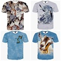 High quality big boy loose round neck short sleeve 3D animal personalized print pattern boy t shirt 14-20 years old