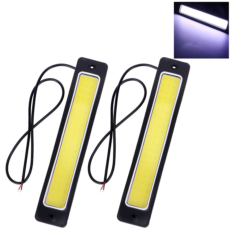 2pcs Super Bright LED Car DRL Daytime Running Light Flexible Fog Lamp COB Day Time Lights Car-styling Reversing Back Lamp