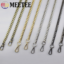 Meetee Width 9mm Shoulder Bag Straps Metal DIY Replacement Chain Buckle 50cm-130cm Handbag Purse Handles Parts Accessories