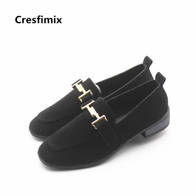 Cresfimix women casual black flat shoes lady cute spring & summer slip on shoes female cool comfortable shoes zapatos de mujer cresfimix women cute spring