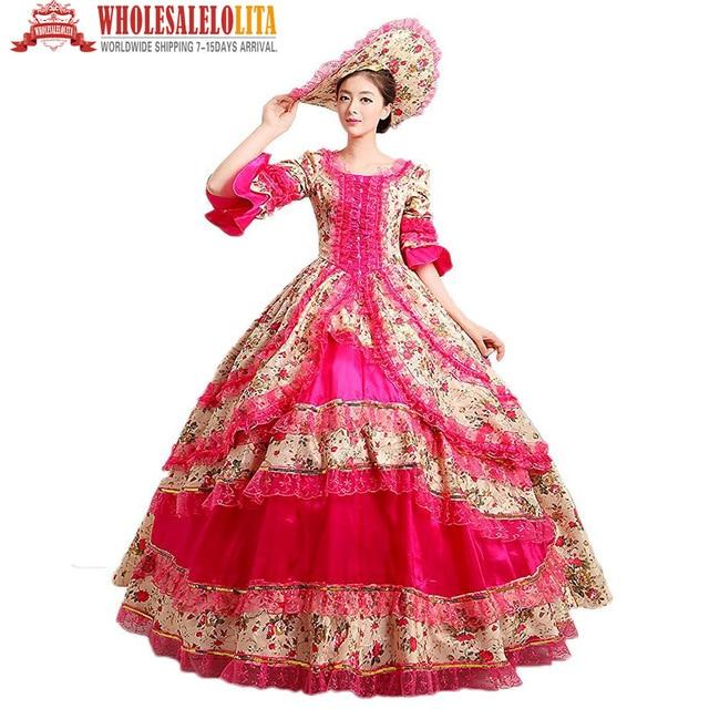 Caliente! Freeshipping Royal Palace vestido de baile medieval ...