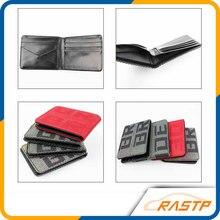 RASTP-Maven Japstyle Billetera NOVIA VERSIÓN JDM Racing Asiento de Tela y Cuero Billetera LS-BAG001