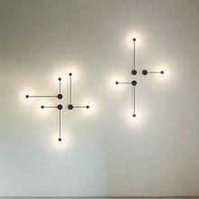 LED интерьерные настенные лампы диван фоне стены телевидение стены ТВ стена коридора лестница лампа Северной Европы лампа