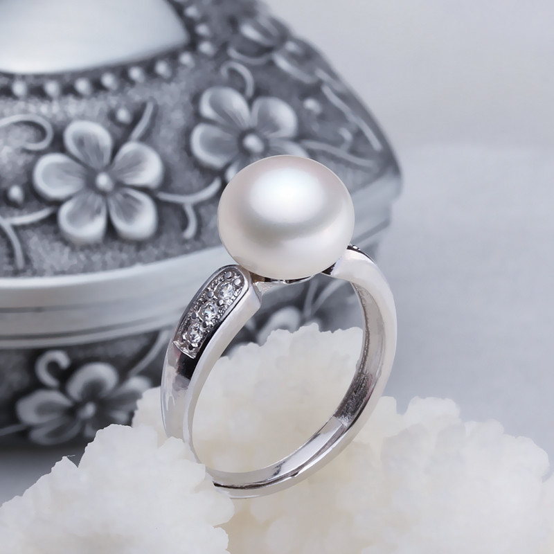 Women Gift word 925 Sterling silver real [bright pearl] natural freshwater pearl rings, rings 925 silver adjustableWomen Gift word 925 Sterling silver real [bright pearl] natural freshwater pearl rings, rings 925 silver adjustable